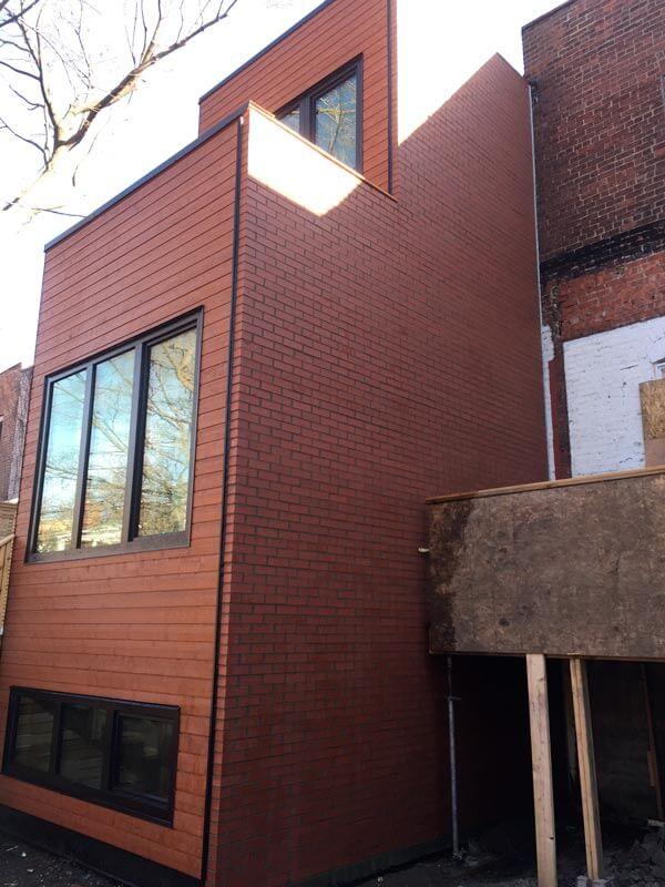 Pose de brique westmount travaux de ma onnerie for Briquette de facade prix