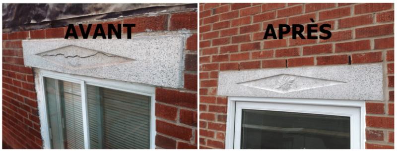 Changement d'un linteau (avant et après)