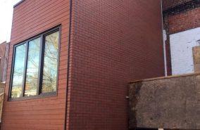 Pose de brique à Westmount